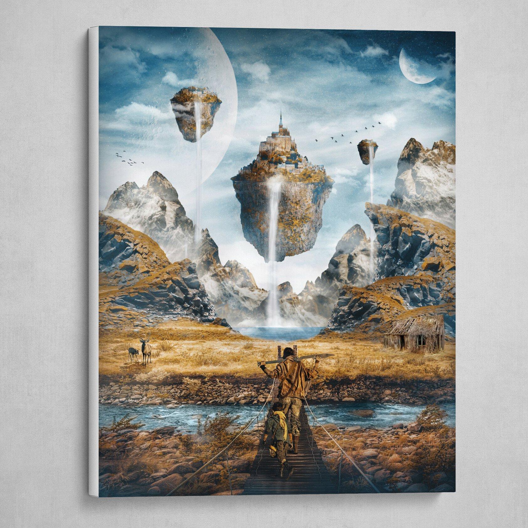 Sci-Fi Fantasy Landscape Painting