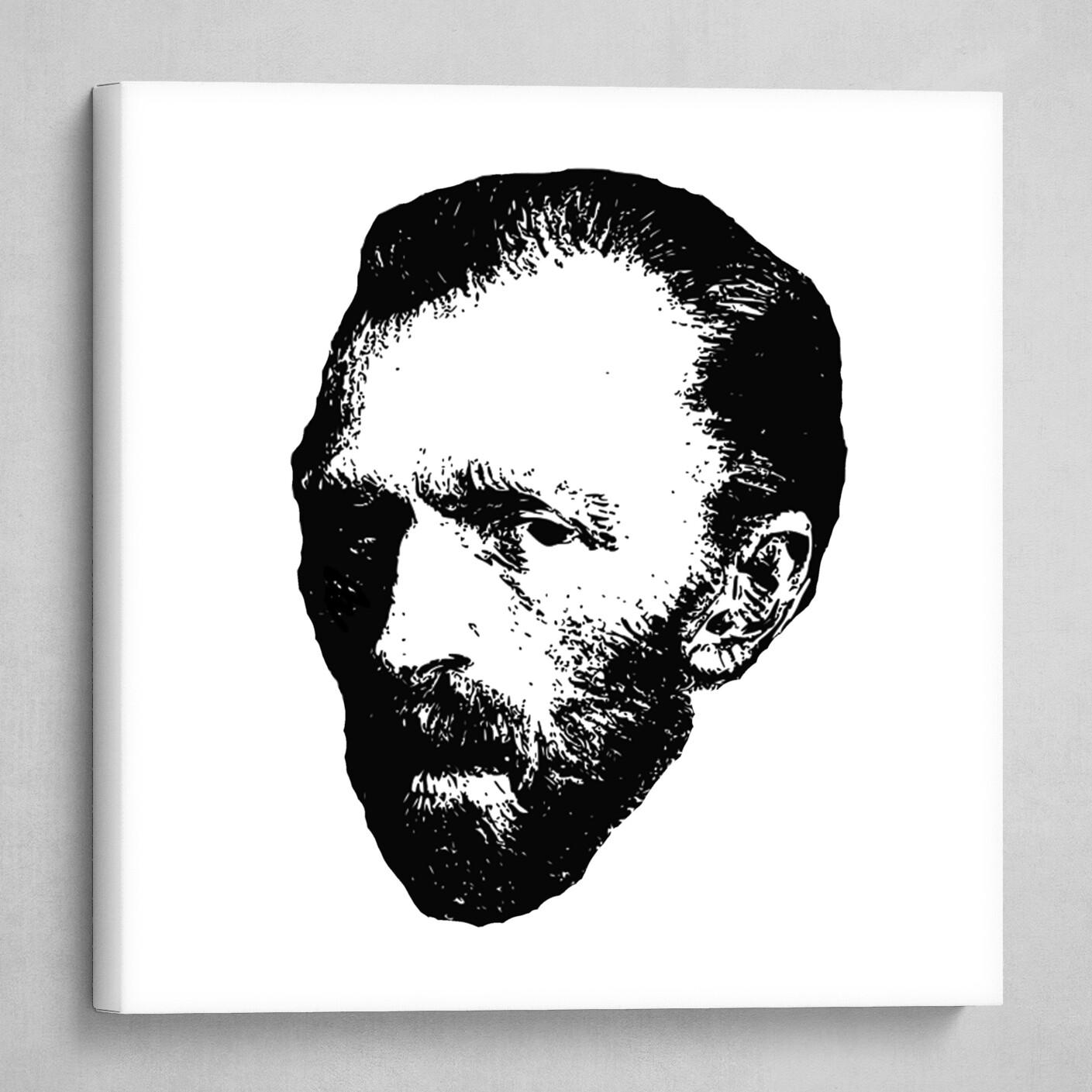 Stencil portrait of Van Gogh