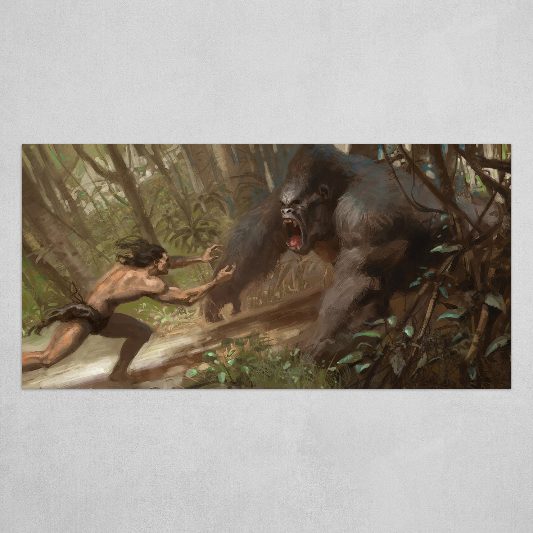Tarzan fights Kerchak
