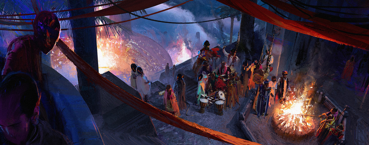 Honourable Mention, Ancient Civilizations: Lost & Found: Keyframe Concept Art