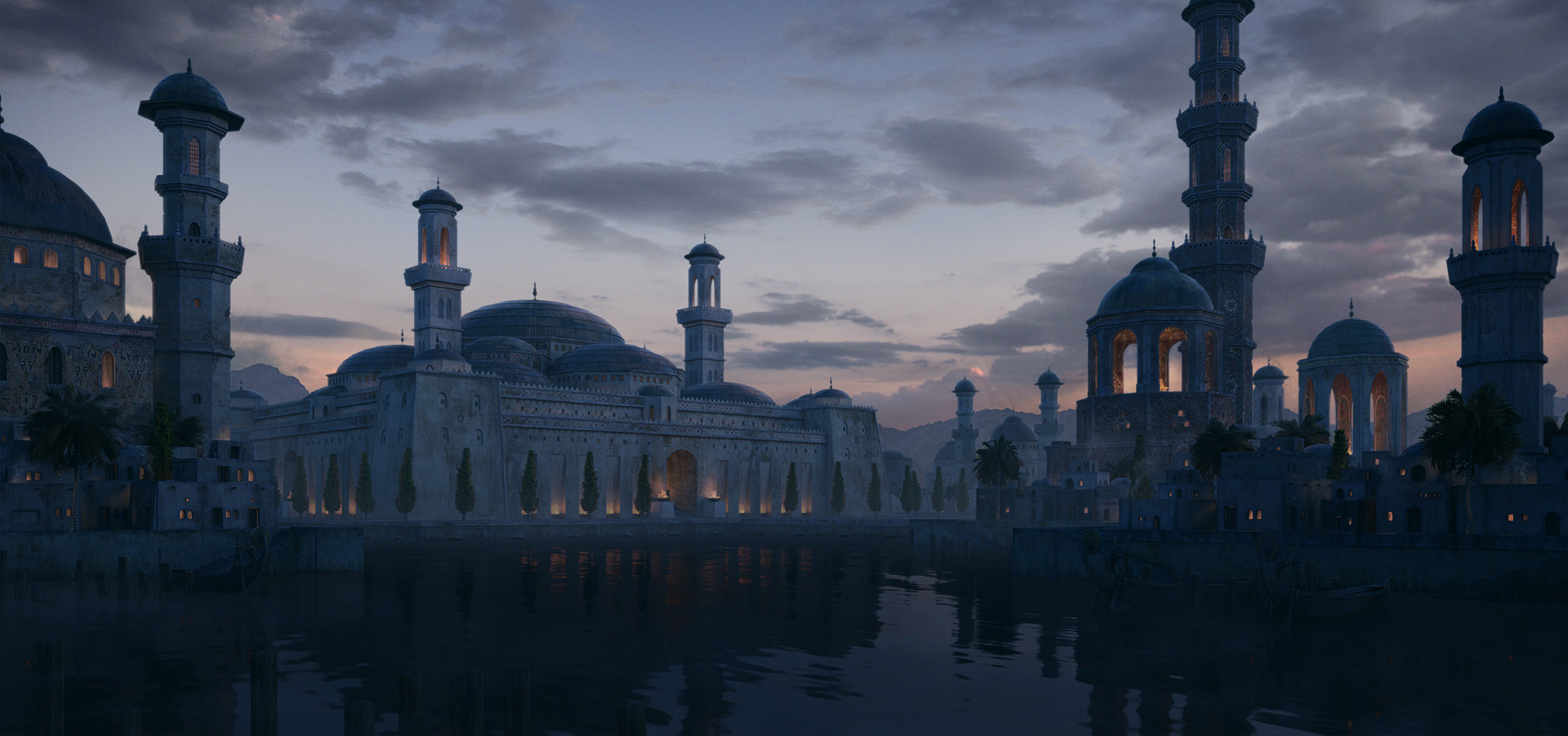3rd Place, Ancient Civilizations: Lost & Found: Film/VFX Matte Painting