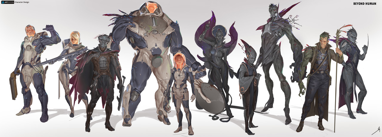 Honorable Mention, Beyond Human: Character Design