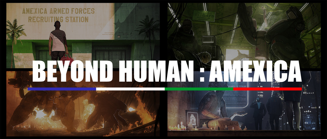 Honorable Mention, Beyond Human: Keyframe Concept Art