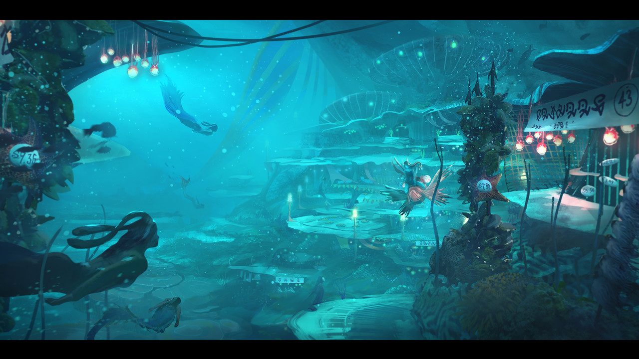 3rd Place, Beneath the Waves: Environment Design