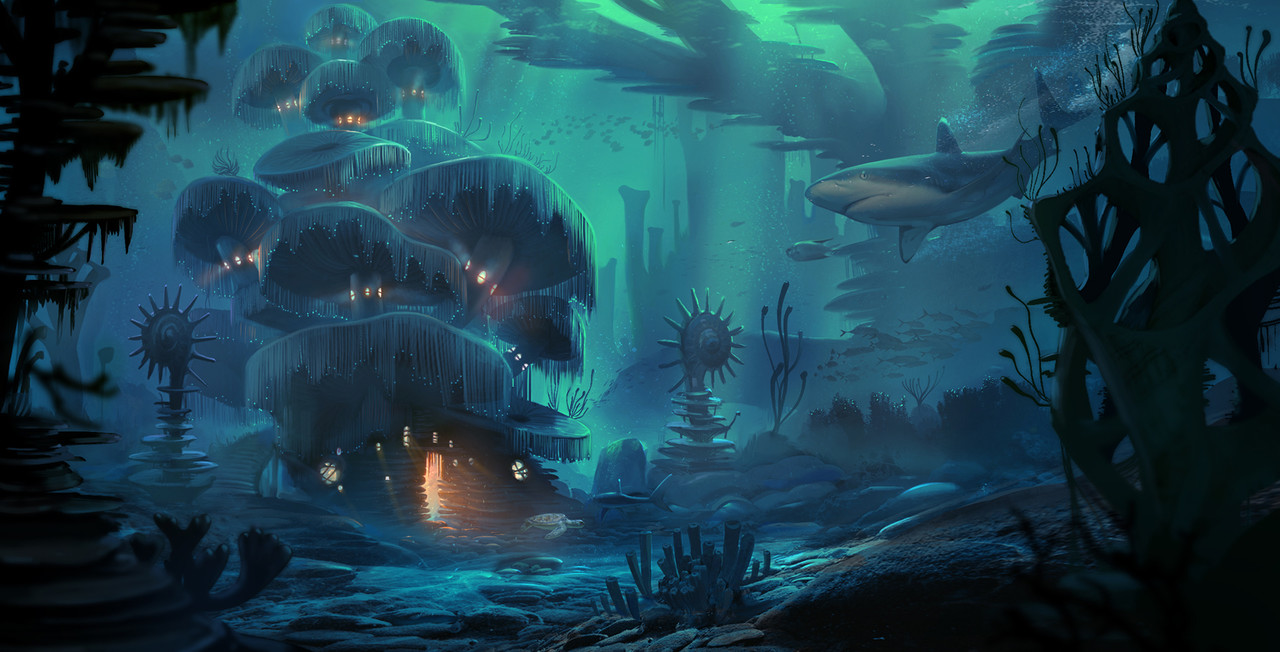 Honorable Mention, Beneath the Waves: Environment Design
