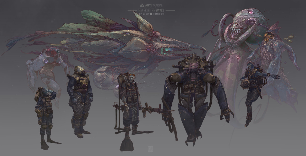 3rd Place, Beneath the Waves: Character/Creature Design