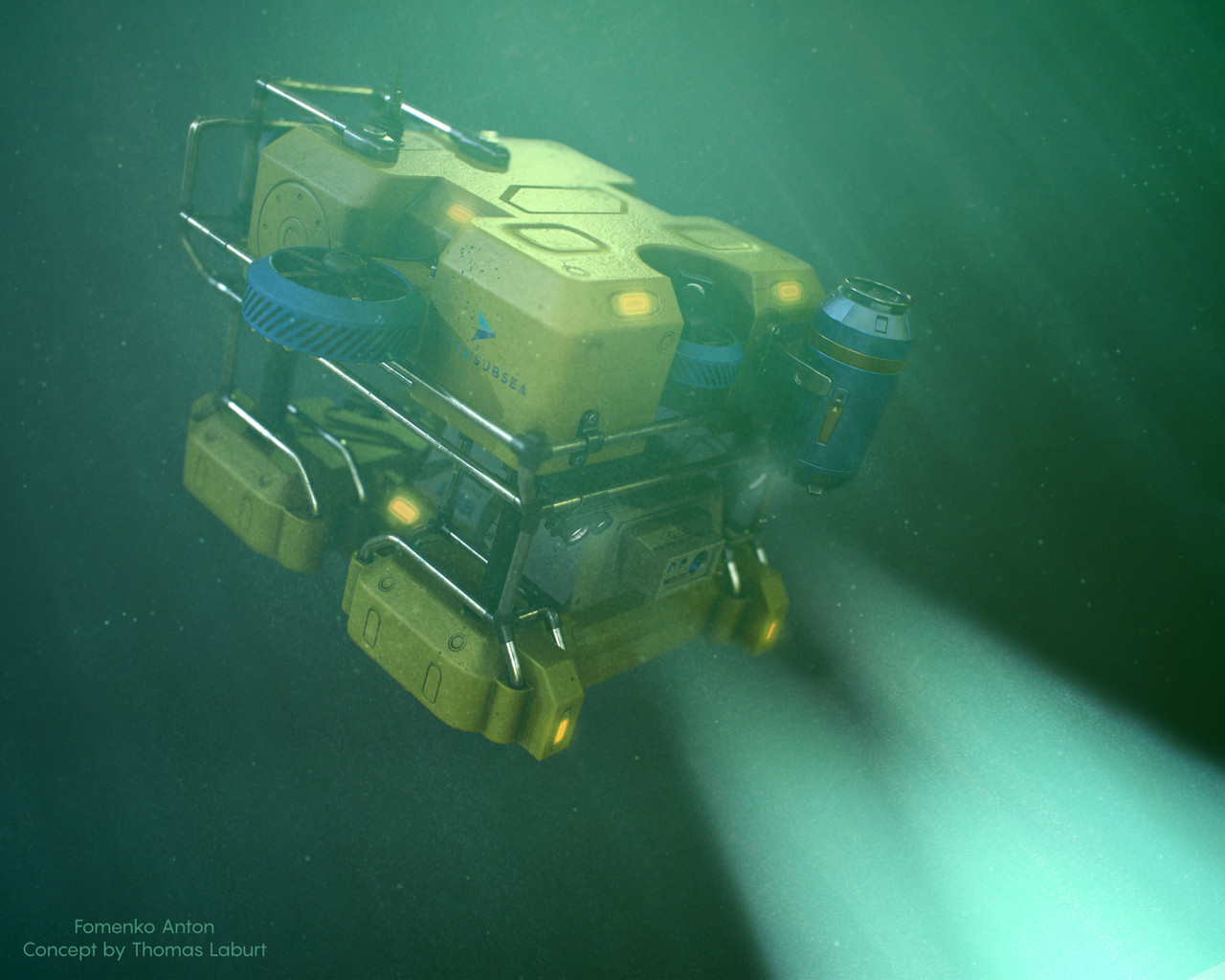 Honorable Mention, Beneath the Waves: Prop Art (rendered)
