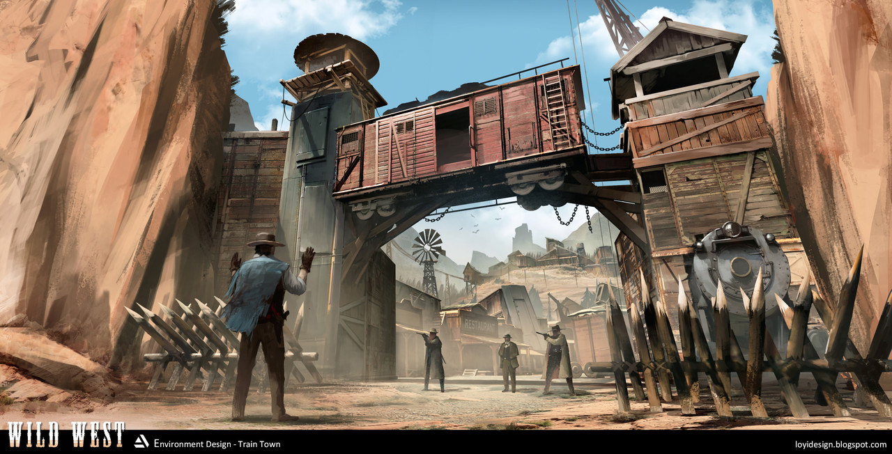Honorable Mention, Wild West: Environment Design