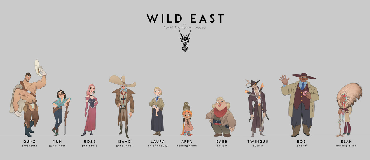 2nd Place, Wild West: Character Design