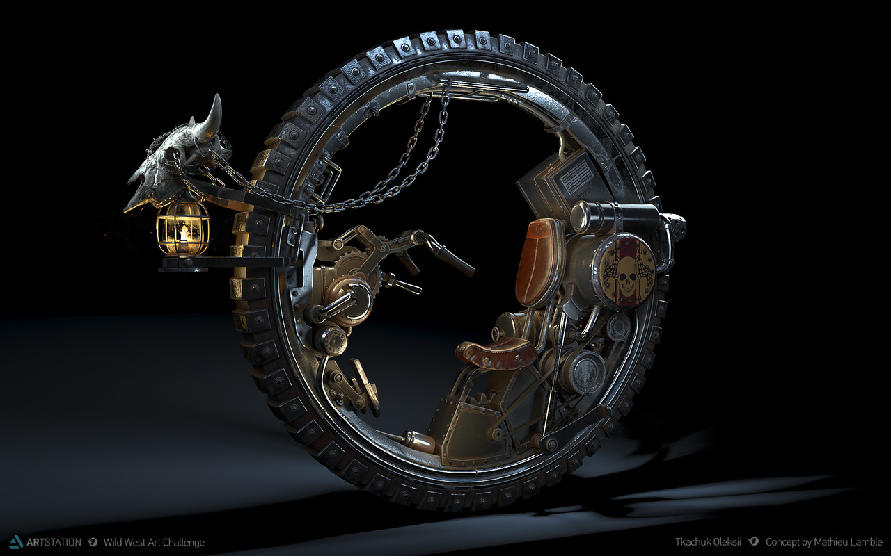 Honorable Mention, Wild West: Prop Art (rendered)