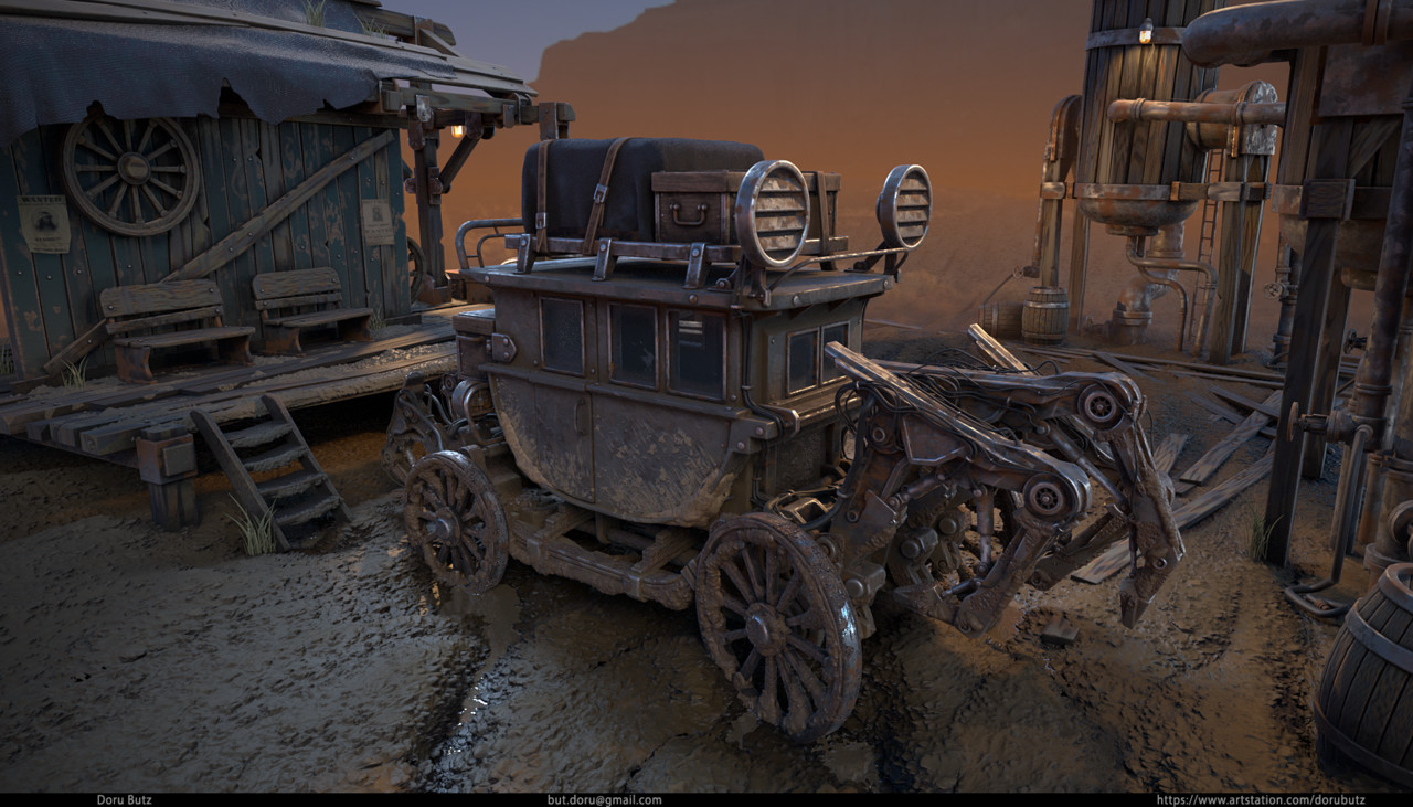 3rd Place, Wild West: Prop Art (rendered)