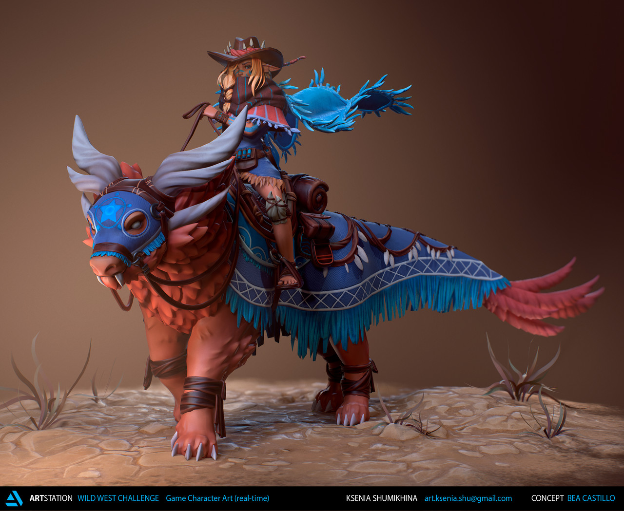 Honorable Mention, Wild West: Game Character Art (real-time)