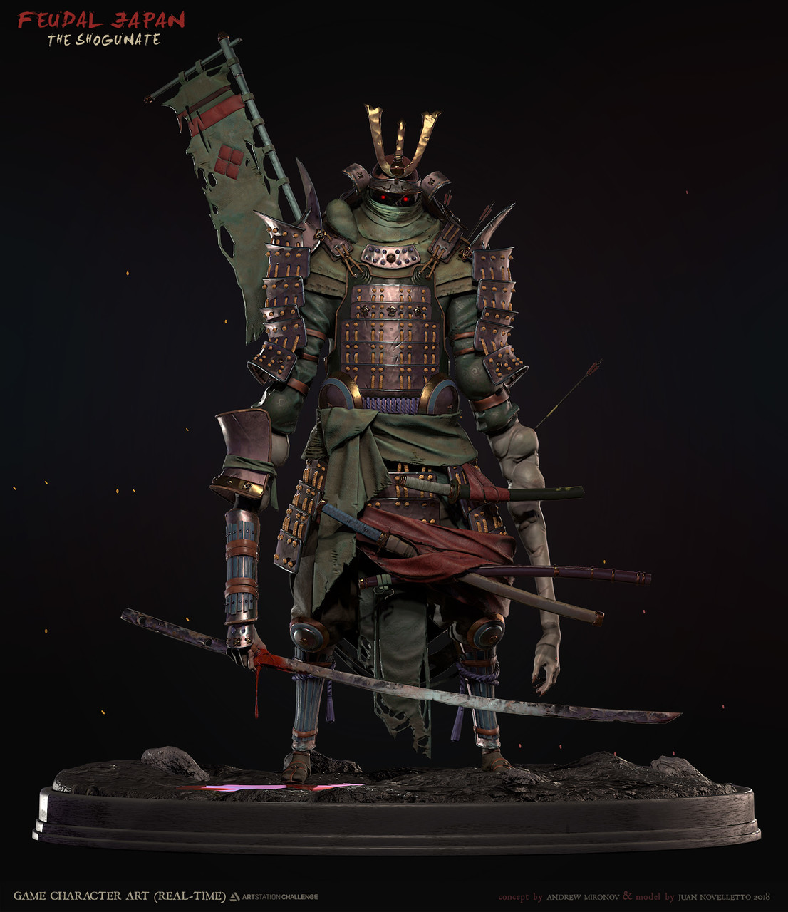 2nd Place, Feudal Japan: The Shogunate: Game Character Art (real-time)
