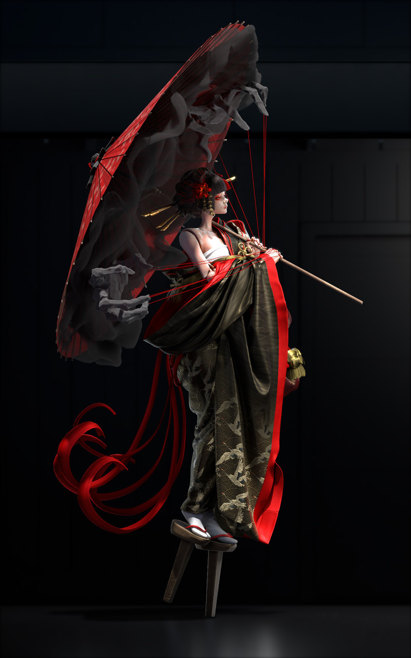 2nd Place, Feudal Japan: The Shogunate: Film/VFX Character Art (rendered)