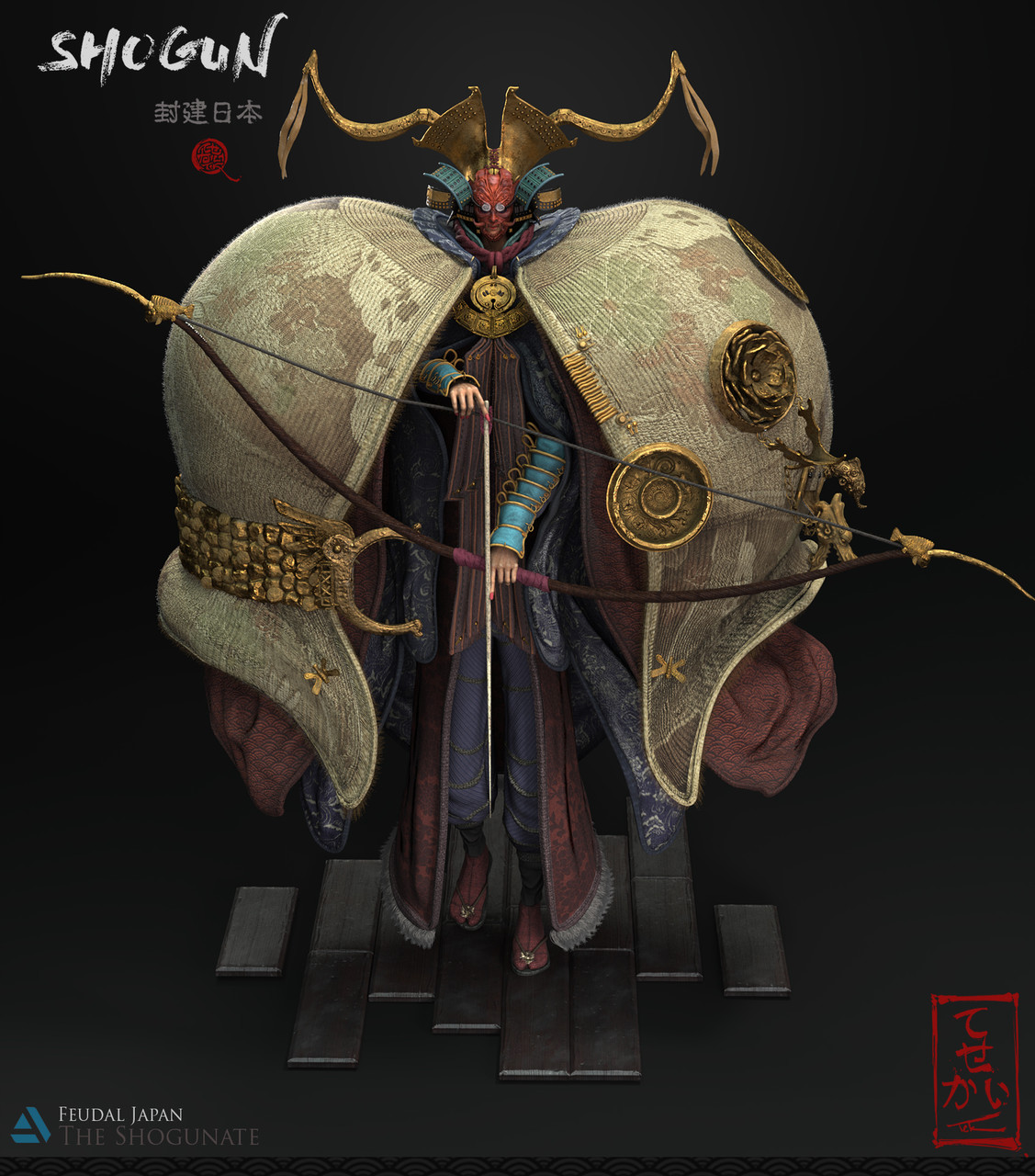 3rd Place, Feudal Japan: The Shogunate: Film/VFX Character Art (rendered)