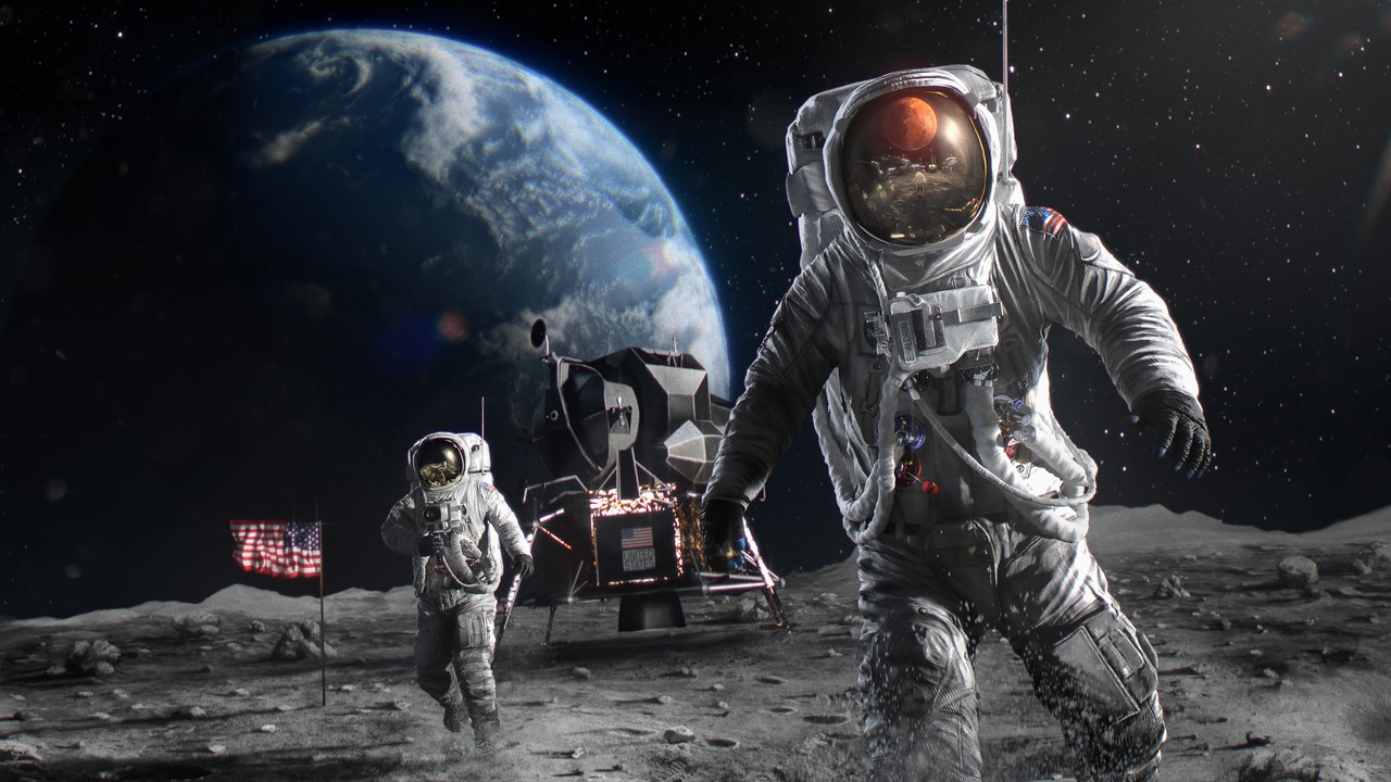 Honorable Mention, Adobe Dimension: From the Moon to Mars: Celebrating Apollo's 50th Anniversary