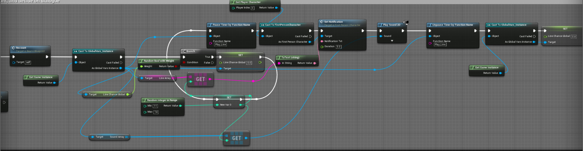 Dixon Dubow - Lessons Learned: Scripting Randomized Dialogue in UE4
