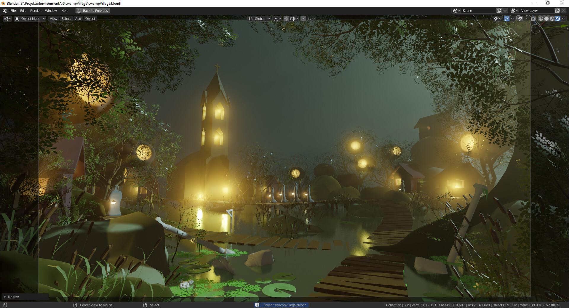 ArtStation - Lars Pfeffer - Swamp Village: Blockout import