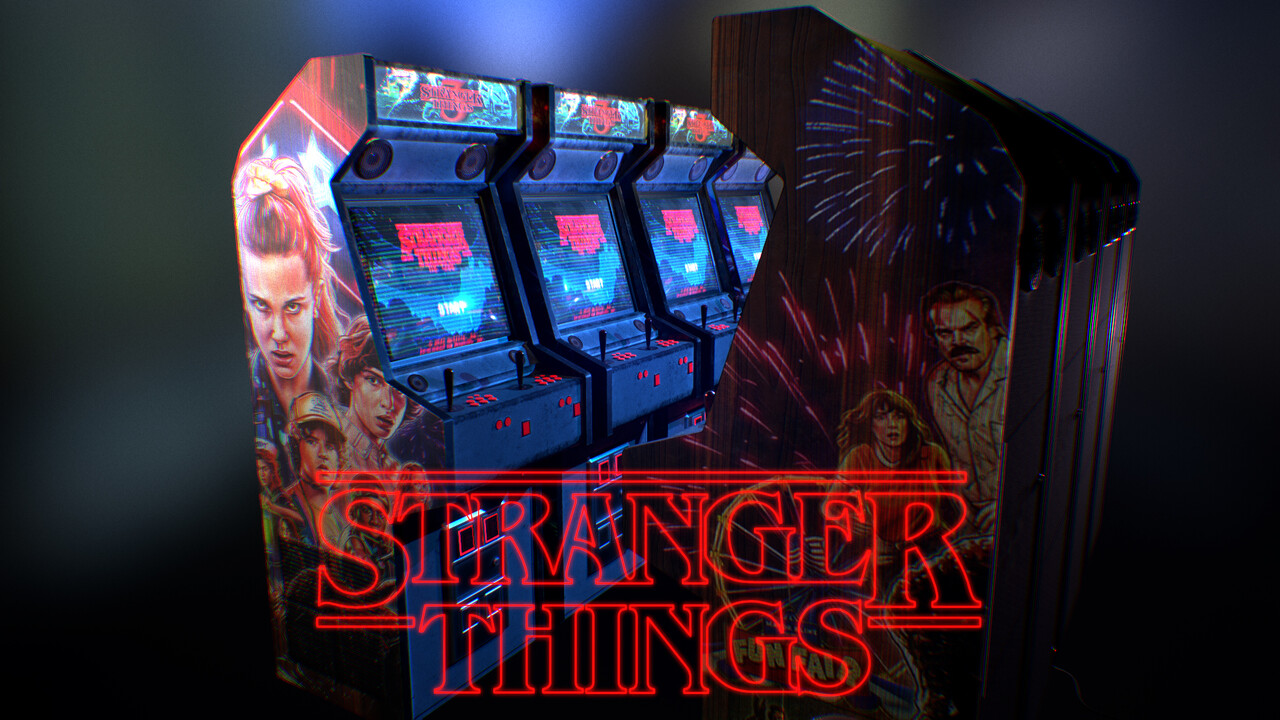 Calvin cropley 2019 stranger things retro arcade cabinet