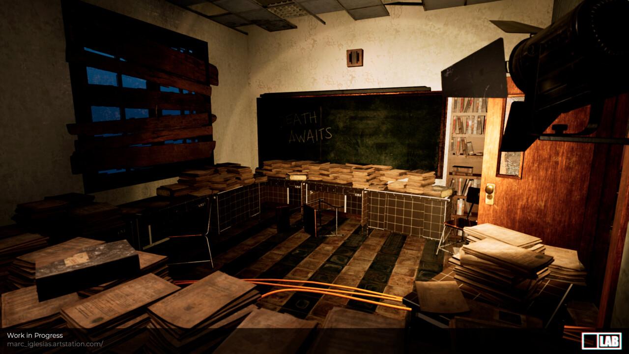 Wip school corridor archive