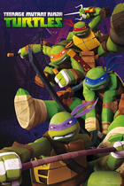 Teenage mutant ninja turtles tmnt poster 61x91 5cm