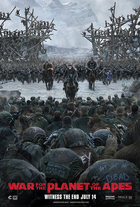 War for the planet of the apes movie poster coverart