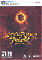 85384 the lord of the rings online shadows of angmar windows front cover