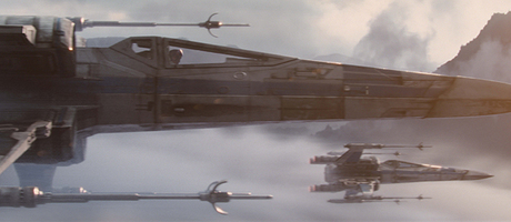 X wings over water banner