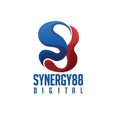 Synergy logo vertical blue white bg copy