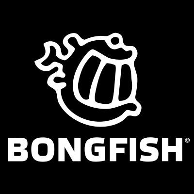Bongfish logo vector white outline 1