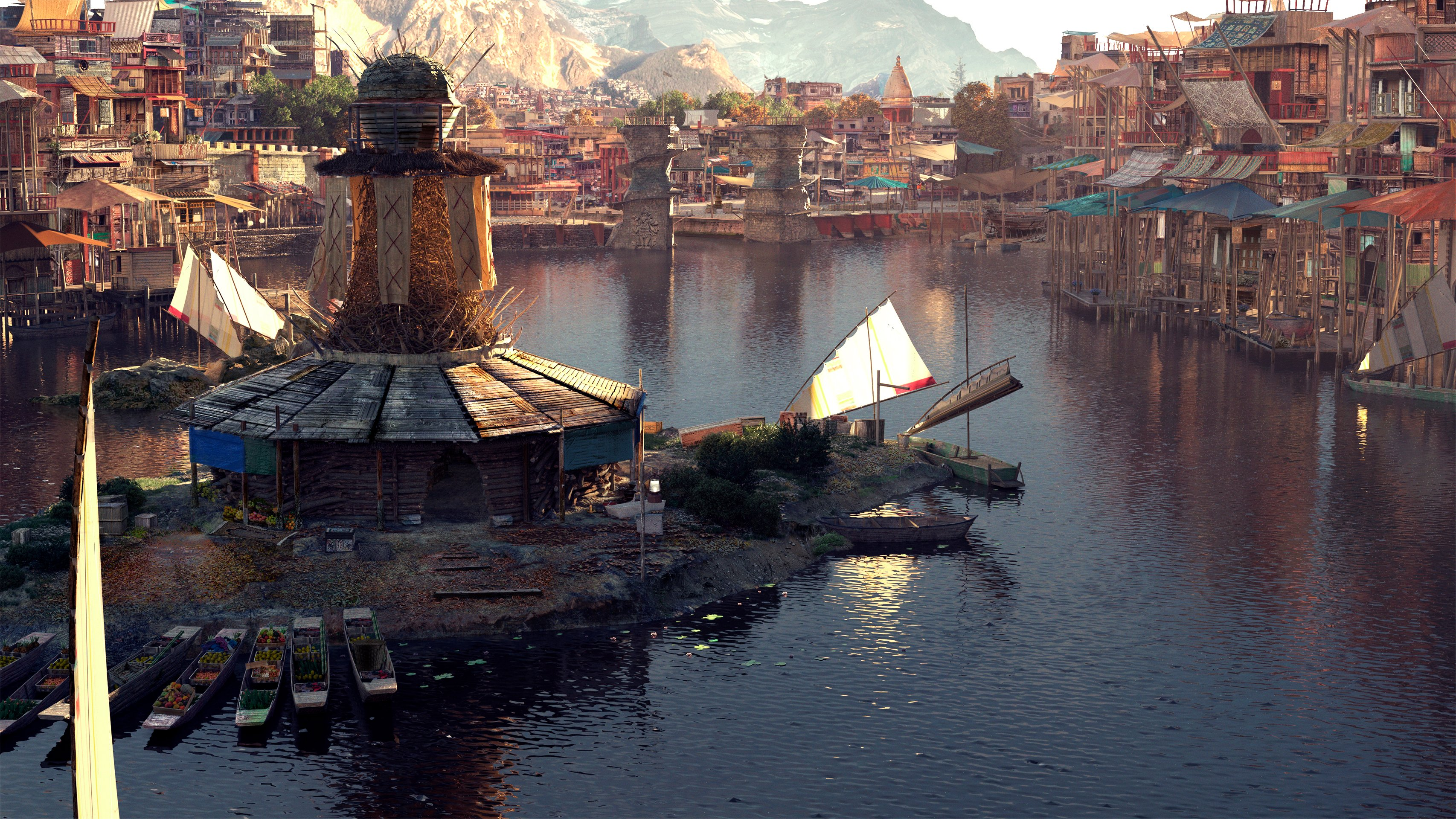 1st Place, Ancient Civilizations: Lost & Found: Film/VFX Matte Painting