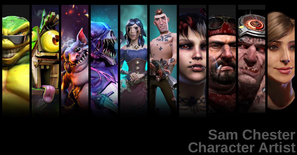 Portfolio Of Sam Chester Lead Character Artist