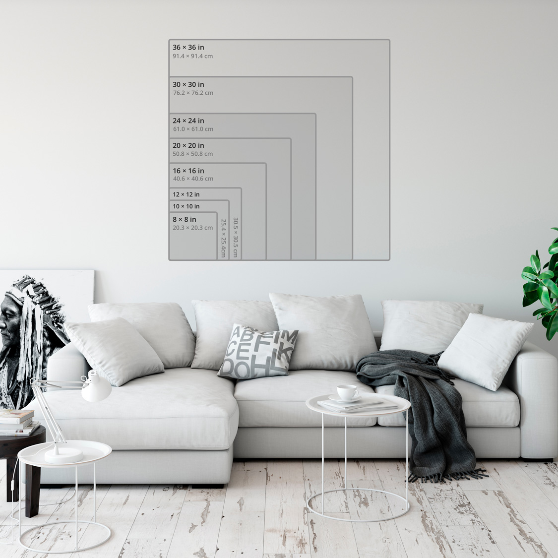 Prints sizes aspect ratio 1.00